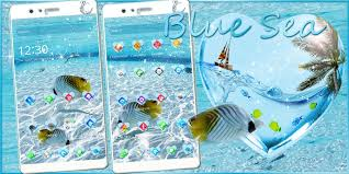 blue sea water theme blue sea summer vacation android apps on