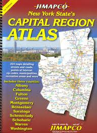 Road Map Of Upstate New York by Capital Region Atlas Jimapco