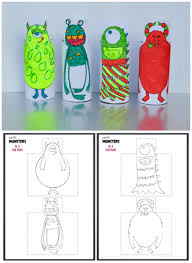 monster cardboard roll printable be a fun mum