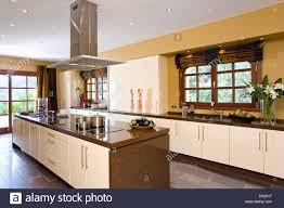 kitchen island extractor extractor fan island unit in modern kitchen in villa