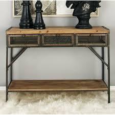 Cole Grey Wood Metal Console Table Reviews Wayfair Ca