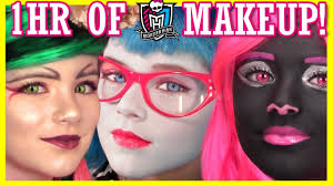 All Monster High Halloween Costumes 1 Hour Of Monster High Doll Makeup Tutorials Costume Halloween