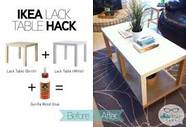 lack end table hack a new ikea table with more storage in 10 minutes chic design geek