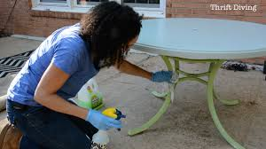 Patio Furniture Review How To Paint Outdoor Furniture Thrift Diving Blog
