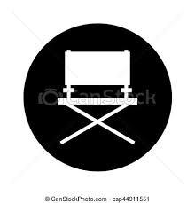 chaise de cinéma chaise directeur cinéma icône cinéma illustration clipart