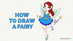 how to draw a fairy in a few easy steps drawing tutorial for kids