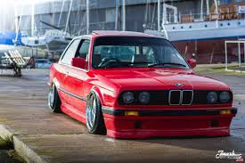bmw 325i stanced grounded bmw 325i coupe e30 front and side