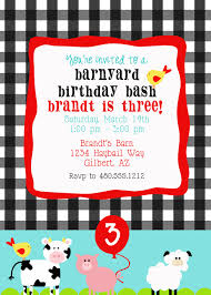 printable party invitation farm animals birthday party or baby