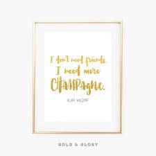 chambre gossip blair waldorf quote gossip quote gold foil print home