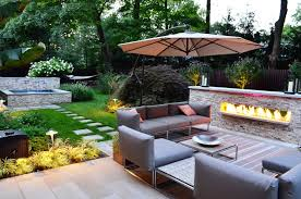 cool outdoor lighting ideas for small backyard with modern