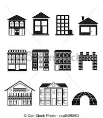 Types Of Houses Pictures Vectors Of Different Kinds Of Houses And Buildings Vector