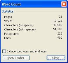 Count Words In A Text Document Counting Document Lines Microsoft Word