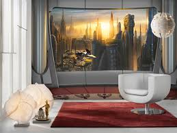 wall mural star wars coruscant view