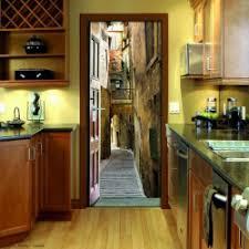 trompe l oeil cuisine sticker de porte trompe l oeil pour une décoration originale