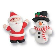 Christmas Cakes Decorations by Culpitt Santa U0026 Snowman Christmas Cake Decorations
