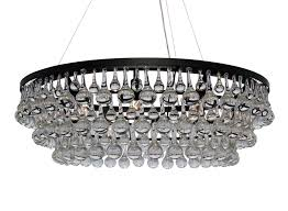 Crystal And Bronze Chandelier Celeste Dark Antique Bronze Glass Drop Crystal Chandelier Light