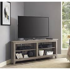 distressed corner tv cabinet inch corner tv stand driftwood trends with ideas for stands picture