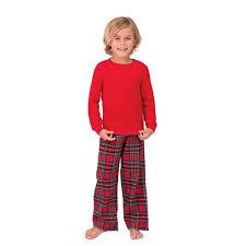 family matching pajamas sets plaid xams sleepwear for