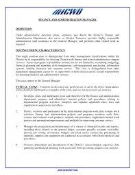 cover letter financial manager job description strategic financial
