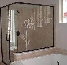 etched glass shower door designs 39 99 dandelion decal etched glass vinyl wall art vinyl decal