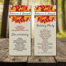 fall wedding programs 25 legjobb ötlet a következőről fall wedding programs a pinteresten