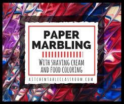 paper marbling with kitchen supplies the kitchen table classroom