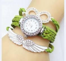 bracelet ladies images Bird wings ladies bracelet watch olive green jpg