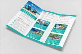 tri fold brochure template free download tri fold travel brochure template 23 travel brochure templates
