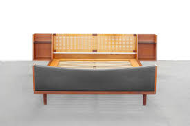 bett modern design teak king size bed with headboard by hans wegner