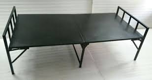 Metal Folding Bed Folding Cot With Metal Sheet Top At Rs 4500 Folding Cot