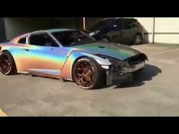 nissan gt r rainbow colour effect 3d holographic silver paint