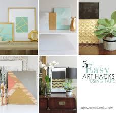 diy hacks home 5 easy diy wall art hacks using tape home made by carmona