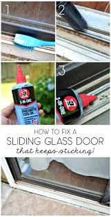 how to fix a glass door 5 minute fix unsticking the sliding glass door u2013 the ugly