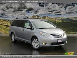 2011 Toyota Sienna Interior Silver Sky Metallic 2011 Toyota Sienna Limited Awd Light Gray