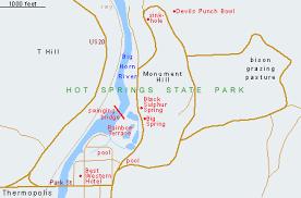 map of thermopolis wyoming springs state park thermopolis wyoming
