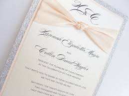 wedding invitations glitter lace wedding invitation