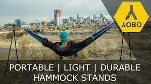 Diy Portable Hammock Stand Yobo Hammock Stand The World U0027s Lightest U0026 Most Portable By