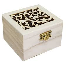 small wooden box craft storage at the works
