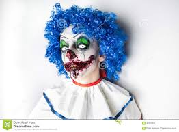 crazy ugly grunge evil clown scary professional halloween masks