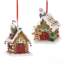 kurt adler gingerbread house ornaments with color changing led