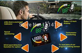 Car Blind Spot Detection Aliexpress Com Buy Hud Head Up Display For Car With 5 5 U0027 U0027 Size