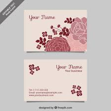 floral business card cmyk floral business cards free vector 123freevectors
