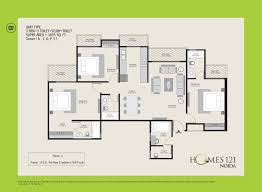 ajnara homes121 floor plan sector 121 noida