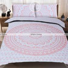 queen mandala bedding and cotton duvet covers  fairdecorcom with p carrot red ombre boho bedding mandala bed sheet with pillowc from fairdecorcom