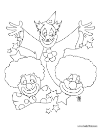 clown coloring page virtren com