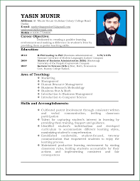 Sample Resume Format For 12th Pass Student by 5 Resume Format For Teachers Job In Word Format