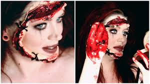 Halloween Makeup Stitches Cyber Stalker Halloween Tutorial Stitched On Face Youtube