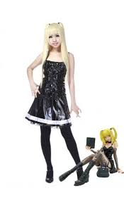 Black Leather Halloween Costumes Death Note Halloween Misa Amane Black Leather Halloween Costumes