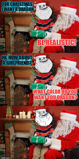 forever alone makes a christmas wish imgflip