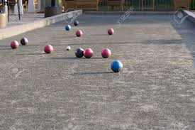patio u0026 outdoor concrete floor bocce ball court for interesting